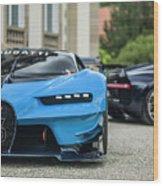 Bugatti Chiron And Vision Gt Wood Print