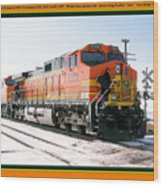 Burlington Northern Santa Fe Bnsf - Railimages@aol.com Wood Print