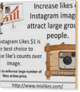 Buy Instagram Likes $1 Wood Print
