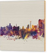 Calcutta Kolkata India Skyline Wood Print