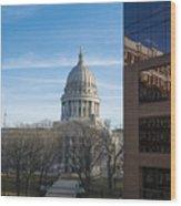 Capitol - Madison - Wisconsin Wood Print