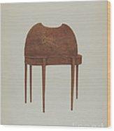 Card Table Wood Print