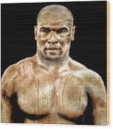 Champion Boxer And Actor Mike Tyson Wood Print