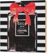 Chanel Noir Perfume Wood Print