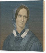 Charlotte Bronte, English Author Wood Print
