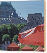 Chateau Frontenac In Quebec City Wood Print