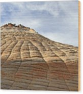 Checkerboard Mesa In Zion National Park Wood Print