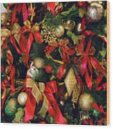 Christmas Holiday Tree Wood Print