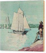 Clear Sailing Wood Print