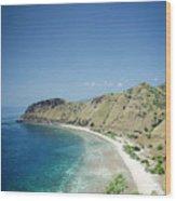Coast And Beach View Near Dili In East Timor Leste Wood Print