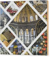 Collage Of Istanbul  Wood Print