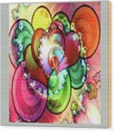 Colors Of Love Wood Print