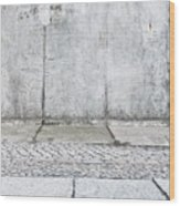 Concrete Background Wood Print