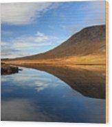 Connemara Lake Reflection Wood Print