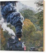 Country Railroad Crossing Wood Print