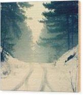 D J Landscape Wood Print