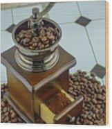Daily Grind Coffee Wood Print