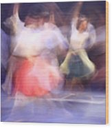 Dancers In Motion  Wood Print