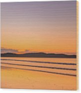 Dawn Seascape With Clouds Wood Print