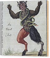 Demonology, 18th Century Wood Print
