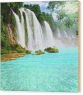 Detian Waterfall Wood Print