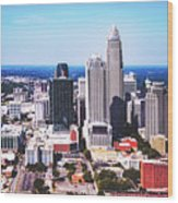 Downtown Charlotte Wood Print