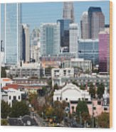 Downtown Charlotte North Carolina From The South End Wood Print