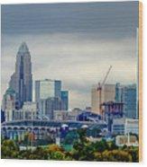 Dramatic Sky And Clouds Over Charlotte North Carolina Wood Print