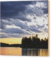 Dramatic Sunset At Lake Wood Print