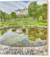 Dunrobin Castle Reflected Wood Print