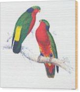 Ed Lear The Parrots Wood Print