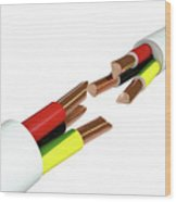 Electrical Cable Cut Wood Print