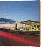 Estonian Gas Station Wood Print by Jaak Nilson