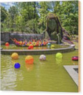 Chihuly Exhibition In The Atlanta Botanical Garden. #01 Wood Print