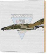 F-4e Phantom II Wood Print