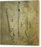 Fender Guitar Patent From 1951 Wood Print