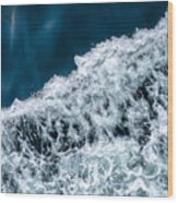 Ferry Waves Wood Print