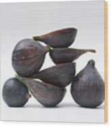 Figs Wood Print by Bernard Jaubert