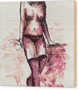 Figure Study Wood Print