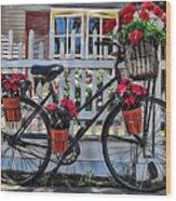 Flower Bike Collection Wood Print