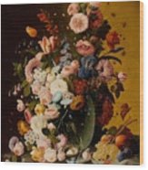 Flowers In A Glass Pitcher Wood Print