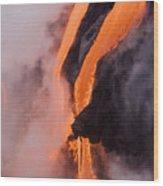 Flowing Pahoehoe Lava Wood Print