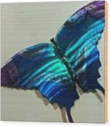 Fly Away Butterfly Wood Print