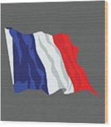 France Flag Wood Print