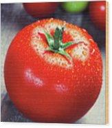 Fresh Tomatoes Wood Print