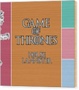 Game Of Thrones. Lannister. Wood Print