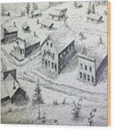 Garnet Ghost Town Montana Wood Print