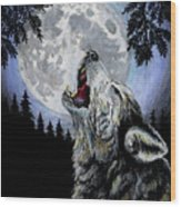 Ghost Wolf Wood Print