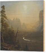 Glacier Point Trail Wood Print