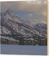 Grand Teton Winter Dawn Wood Print